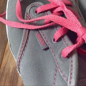 Vans size 5 Womens pink and gray